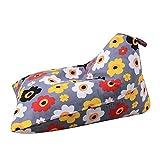 Lembeauty Grande capacità Plush Toy Stuffed Bag Kids Toy Animal Storage Bean Bag rombo Pieghevole Pavimento per Sedia Sdraio Letto per Bambini, Adolescenti, Adulti A