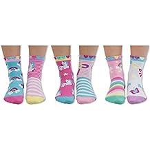 United Oddsocks - Combinado de 6 calcetines para niños no coincidentes, para combinar de forma