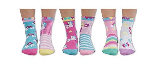 United Oddsocks - Combinado de 6 calcetines para niños no coincidentes, para combinar de forma descoordinada - Tamaño: Eur 27-30.5, Tema: Caracteres fábulas