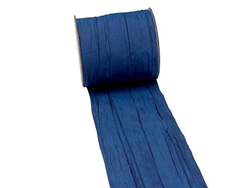Unbekannt 15m Fripe Taft 100mm Tischband Hellblau Blau Petrol Flieder Kommunion Konfirmation, Farbe:Dunkelblau