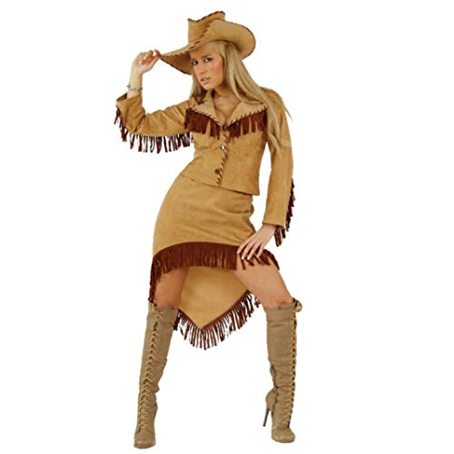 Krause & Sohn Cowgirl Kostüm Western Lady komplett Jacke Rock Hut Fasching Karneval Amerika USA (L) (Lady Von Amerika)