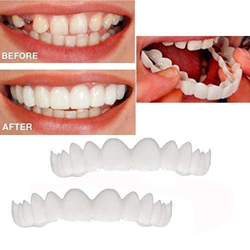 EliaSan Personal Care 2 Stücke Lächeln Komfort Fit Kosmetische Zähne Prothesenzähne Top Kosmetische Furnier