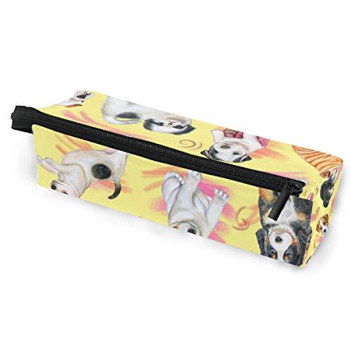 Schuhe niedlichen welpen tier hund muster brillen case softbox reißverschluss sonnenbrille halter federbeutel schutzhülle bleistift kosmetiktaschen lagerung