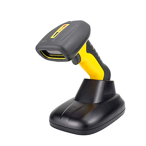 NT-1205 Wireless 2D/1D Bluetooth Barcode Scanner/Imager, Handheld Bar Code Reader, Barcode Gun Tool für Supermarkt Warehouse Store, inklusive Cradle und USB Cord-Wasserproof Shockproof