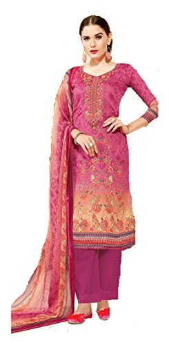 DS Fabrics Women's Un Stitched Stylish Party and Ethnic Wear | Embroidered...