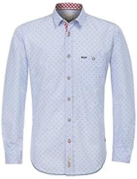 Michaelax-Fashion-Trade Stockerpoint - Herren Trachtenhemd in Hellblau, Leeroy