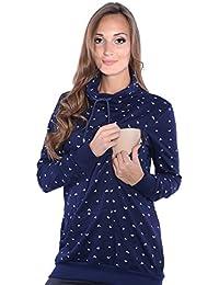 Mija - Umstandsmode / 2 in1 Stillpullover & Umstandspullover Sweatshirt 4058
