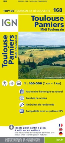 TOP100168 TOULOUSE/PAMIERS  1/100.000