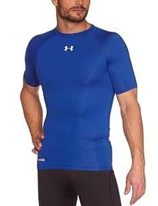 Under armour heatgear sonic t-kompressionsshirt ® de compression à manches courtes de course-manches courtes-taille xXXL-couleur :  royal/white