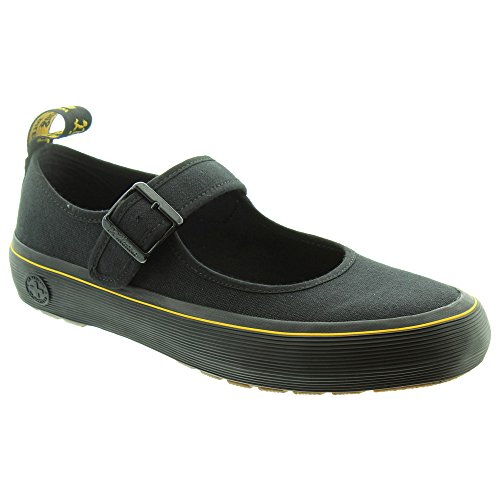 Dr. Martens - Frauen Florentia Mary Jane, 36 EUR, Black Canvas -