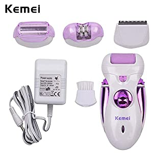 4 in 1 Lady Epilator Depilador Women Shaver Razor Kemei Female Shaving Machine Body Care Hair Trimmer Electric Removal Tweezer