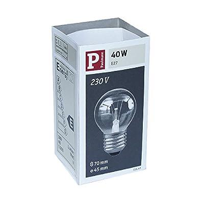 8 x Paulmann Glühbirne Tropfen 40W E27 Klar Glühlampe 40 Watt Glühbirnen Glühlampen 11840