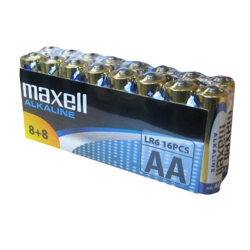 Maxell LR6 AA Mignon Alkaline Batterien (16-er Vorratspack)