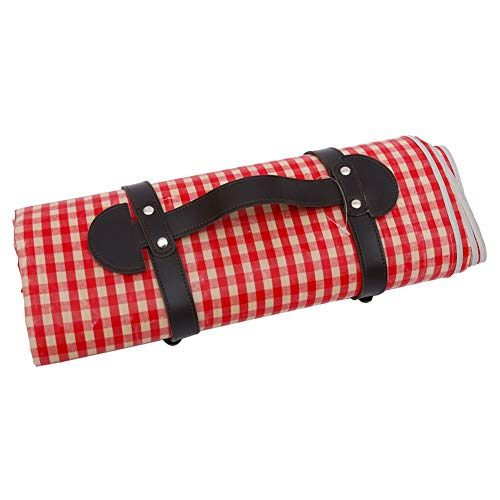 YiYaa Handgefertigt Rechteckig Picknickkorb Aus Wicker,Hochwertiger Weidenkorb,Picknickset Pastoral Straw Storage Basket Picnic Basket (D)