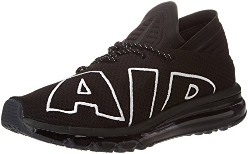 Nike air max flair, scarpe da ginnastica uomo, nero (black/black/white 001), 45.5 eu