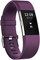 Fitbit Charge 2 Activity Tracker with Wrist Based Heart Rate Monitor - Plum/Large