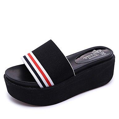 Pantofole & flip-flops luce estiva suole raso elasticizzato Casual tacco piatto altri Bianco Nero caff¨¨ a piedi US7.5 / EU38 / UK5.5 / CN38