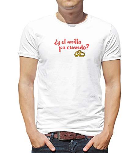 LumaShirts Y El Anillo Pa Cuando Matrimonio Amor Pareja_000619 T-Shirt Birthday For Her 2XL Woman White