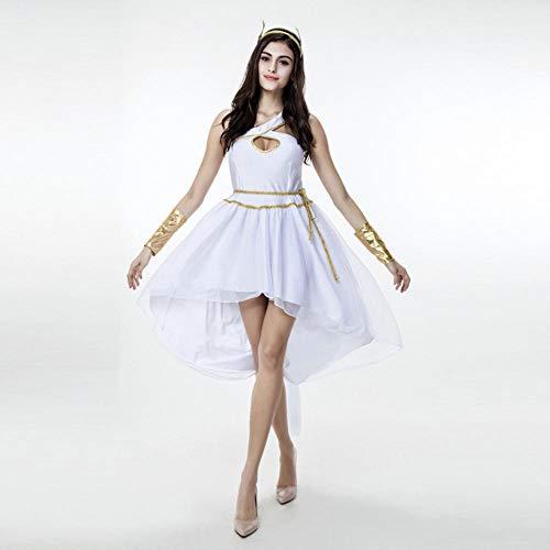 NiQiShangMao Frauen Mittelalter der Griechischen Göttin Kostüm Erwachsene Göttin Kostüm Halloween Kostüme für Frauen Fantasie - Kinder Der Griechischen Göttin Kostüm
