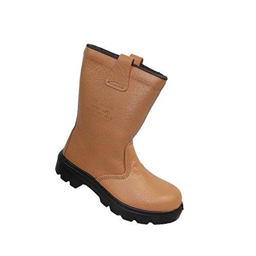 S1P sRC cI botte de sécurité rigger berufsschuhe businessschuhe chaussures de trekking-marron Marron - Marron