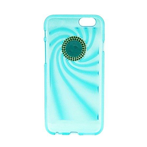 Phone case & Hülle Für IPhone 6 / 6S, modischer ultradünner Diamant verkrustete TPU Schutzhülle ( Color : Purple ) Blue