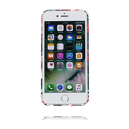iPhone 7 Custodia Case, iPhone 7 Copertura 4.7, Disegno unico del materiale di TPU Cartoon Stylish Durable Indietro Cover, Graffi Resistenza agli urti # Fiore Multiflora Rose Color 4
