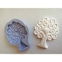 Stampo albero della vita in silicone bomboniere fai da te saponi cioccolatini gessetti in polvere di ceramica