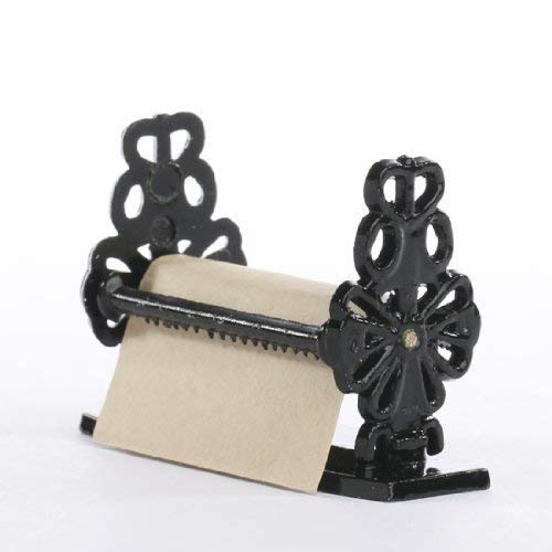 miniatura decorativo Negro Metal Papel Dispensador con rollo de Kraft Papel