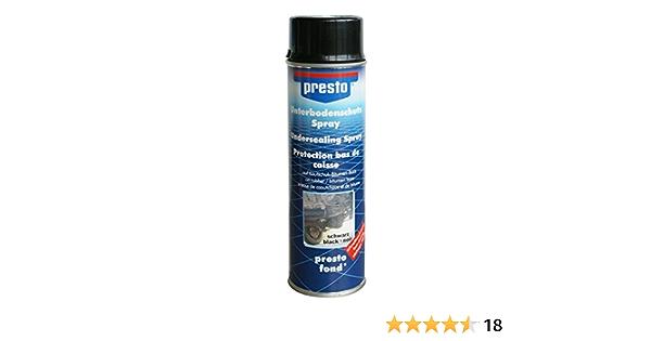 Presto Unterbodenschutz Spray Bitumen Schwarz Inhalt 500 Ml Sport Freizeit