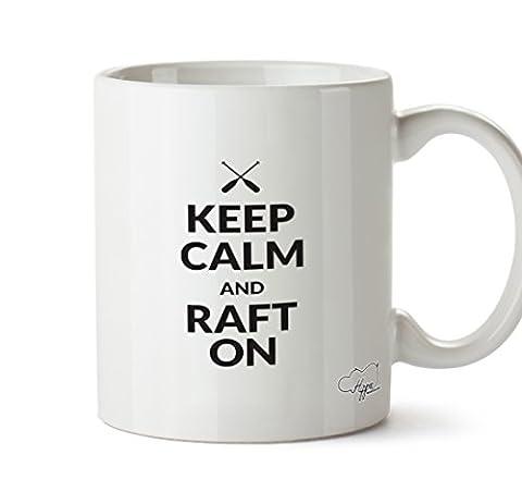 HippoWarehouse Keep calm and raft on 10oz Mug Cup