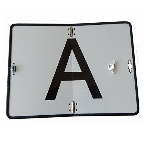 A-Tafel, Warntafel weiß 400 x 300 mm klappbar Reflektor Abfalltafel Abfallschild Warntafel LKW - Reflektor-schild
