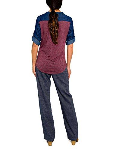 SMASH Cinca Camiseta Con Mangas A 3/4-A1685300, T-Shirt Femme Purpura