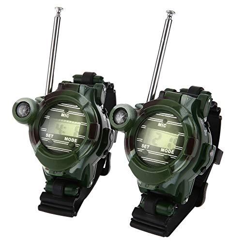 2 stücke Tragbare Ourdoor Kompass 7 in 1 Walkie Talkie Camouflage Stil Mit Nachtlicht Speculum for Camping Wandern Im Freienwerkzeuge (Color : Green)