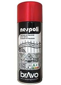 Bombe de peinture aérosol metallisé - ROUGE