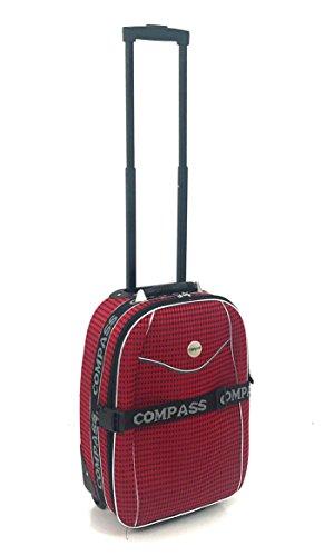 """Leicht Kabine Zugelassen strapazierfähig und leichtes Trolley Gepäck Tasche Weiss Schwarz / Rot Carry-On 20"""" Red Diamond Print"""