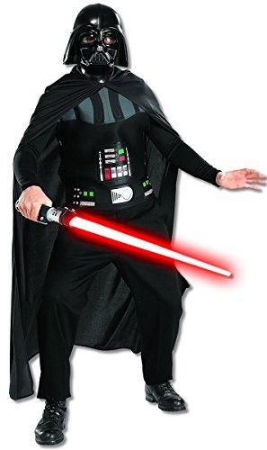 Star Wars Darth Vader Kostüm für Erwachsene (Halb-Maske, Brustpanzer & Umhang), Gr. L/XL (Darth Vader-halloween-kostüm)
