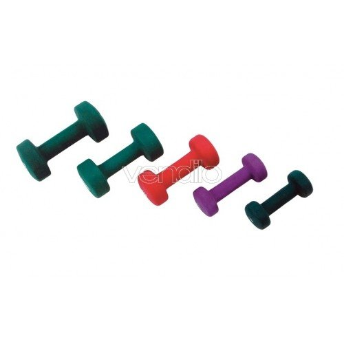 Manubrio neoprene kg 4 jk fitness Verde Flou