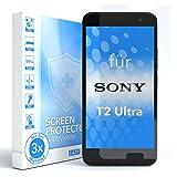 EAZY CASE 3X Bildschirmschutzfolie für Sony Xperia T2-Ultra, nur 0,05 mm dick I Bildschirmschutz, Schutzfolie, Bildschirmfolie, Transparent/Kristallklar