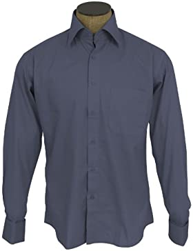Sunrise Outlet Men's Wrinkle Free Cotton Blend French Cuff Dress Shirts