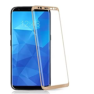 Karirap™ ultra clear, 9H hardness,2.5D Curved, shatterproof, anti explosion, scratch free, bubble free, oil resistant, reduced fingerprint tempered glass screen protectorTempered glass for Samsung Galaxy S8