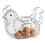Chicken Shaped Wire Egg Basket - Egg holder - Egg stand by Home Living