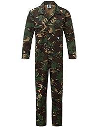 Blu Castle clothing 334 - Traje de mono de camuflaje, Multicolor (Woodland)
