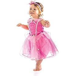 Disney Princesas Disfraz Bella durmiente lujo, talla 18-24 meses, color rosa (Travis Designs DCPRSB18)