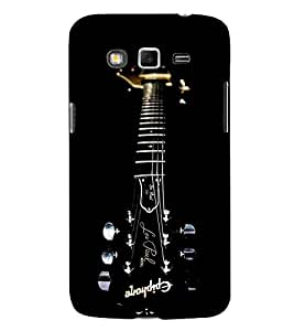 For Samsung Galaxy Grand Neo :: Samsung Galaxy Grand Lite beautiful guitar ( beautiful guitar, guitar, black guitar ) Printed Designer Back Case Cover By CHAPLOOS
