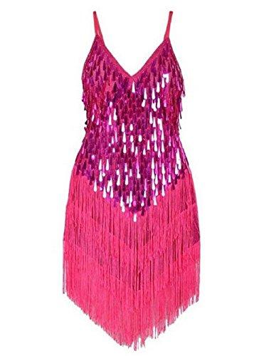 Pailletten Ideen Gold Kleid Kostüm (Travelday® Damenschlinge umsäumt spangly Kleid für)