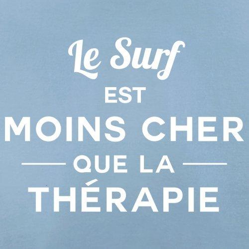 Le surf est moins cher que la thérapie - Femme T-Shirt - 14 couleur Bleu Ciel