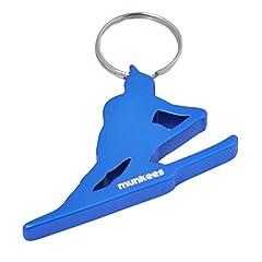 Idea Regalo - Munkees portachiavi Sci conducente di alta qualità In Alluminio, portachiavi, 3496, alluminio, Blau