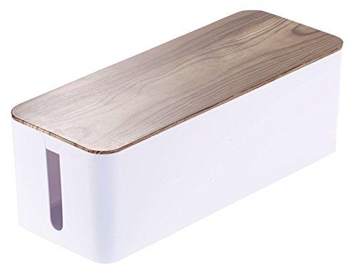 boite-a-cables-aspect-bois-de-noyer-39-cm