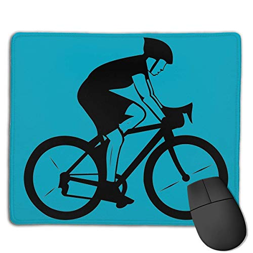Mouse Pad Bicycle Cycling Funny Art Rectangle Rubber Mousepad 8.66 X 7.09 Inch Gaming Mouse Pad with Black Lock Edge