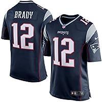 Nike New England Patriots Nfl Game Team Jrsy - top à manches courtes Homme, couleur Bleu marine, taille L